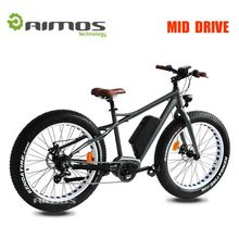 hot sale new electric fatbike electric fat tire 26*4.0 26*4.8 full carbon fatbike with mid motor