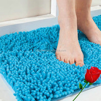 Washable Microfiber Chenille Bathroom Rugs / Carpets/ Mats any shape