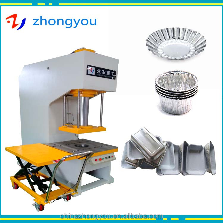 YQ41 aluminium foil container/tray/plate making press machine 100ton