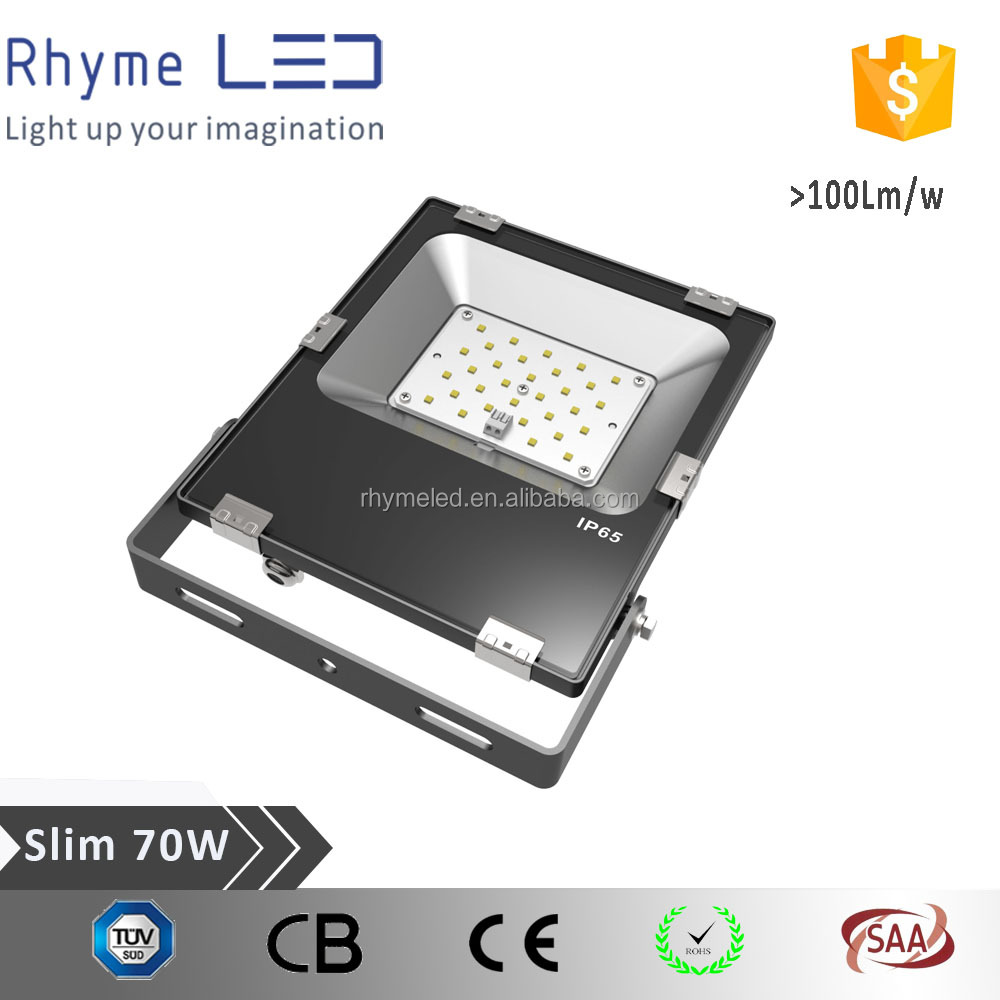 IP66 waterproof rating 70W led flood light with 3years warranty and tempered glass