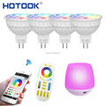 4W AC/DC12V 2.4G Wireless Dimmable LED Bulb RGB+CCT MR16 Smart LED Spotlight