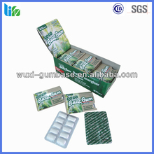 Hot selling crispy label gum Energy Caffeine Chewing Gum herbal chewing gum