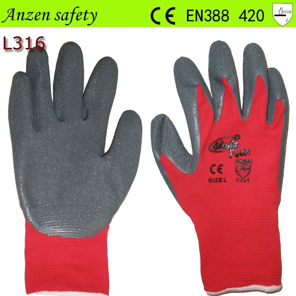 Latex Coated Oil Resistant Rugged Wear Mechanical Working Gloves