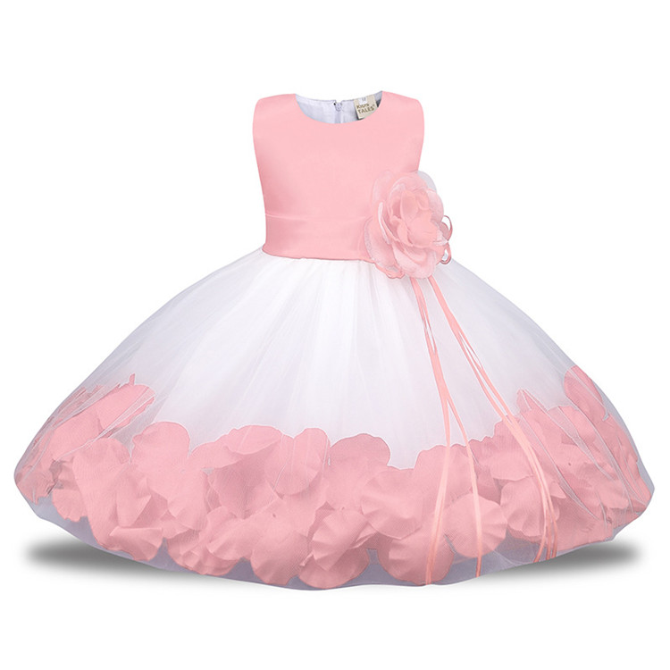 2018 New design Summer High Quality Flower Party Princess Girl Dress