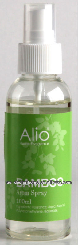 GREEN COLOR BAMBOO FRAGRANCE 100ML AROMA HOME SPRAY