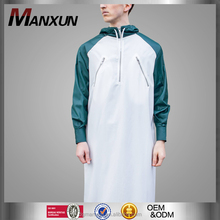 High End Muslim Jubah 2016 Zip Panel Hood Thobe Jubba Designs For Men