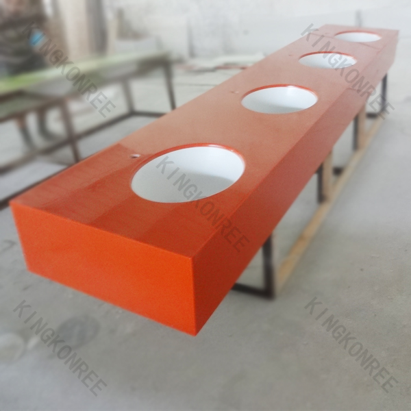 Competitive price polishing red solid surface countertop