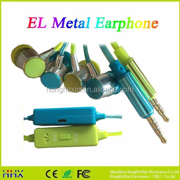 New arrived--In-Ear LED headphone /LED flash light earpiece/stereo earphone /MP3/MP4 headphones