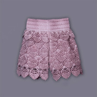 2016 New Summer Girls Shorts Casual Lace Shorts With Embroidery Fashion Kids Wear