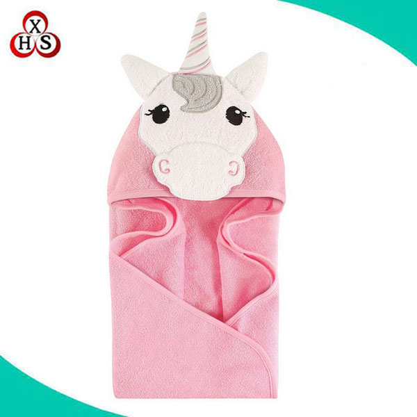 100% cotton children unicorn hooded bath towel