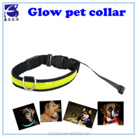 pet products training leash broches para collar de perlas glowing pet led dog collars