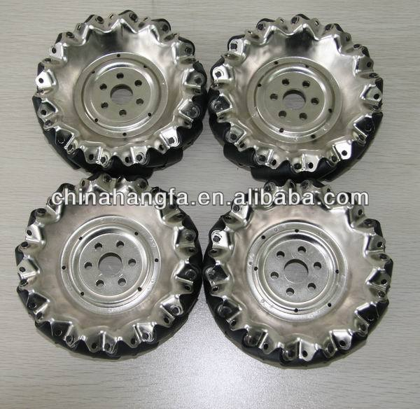 A set of 152.4mm mecanum wheel with rubbe <strong>roller</strong> for robot platform