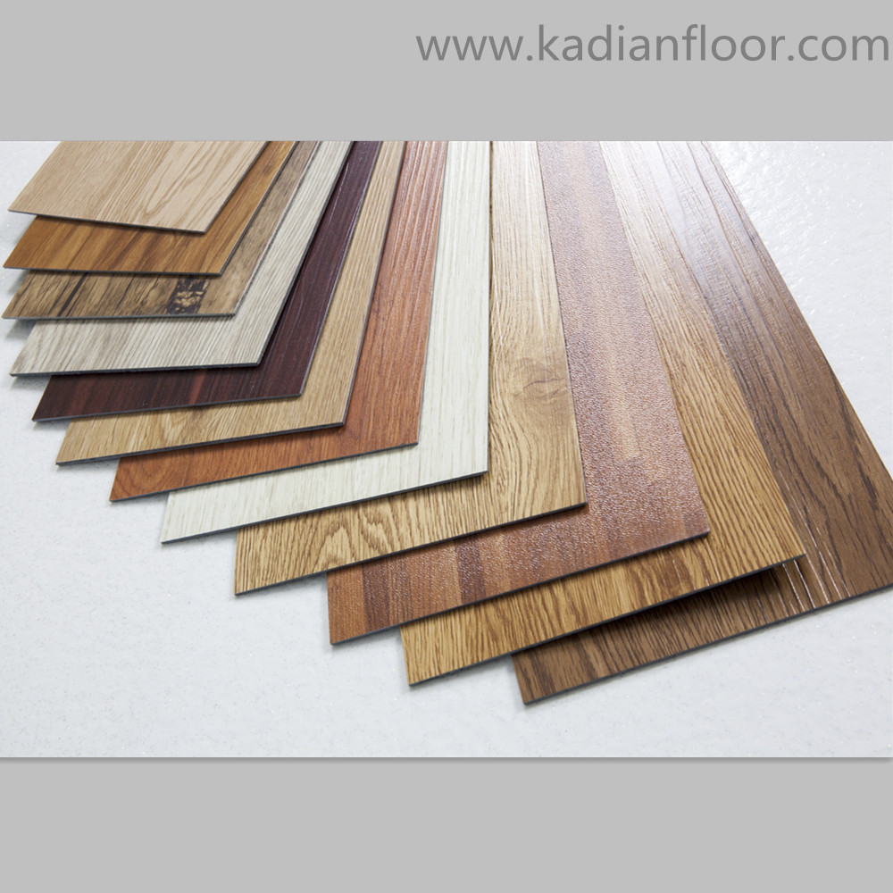 Waterproof vinyl pvc floor tile used for indoor room for Pvc hardwood flooring