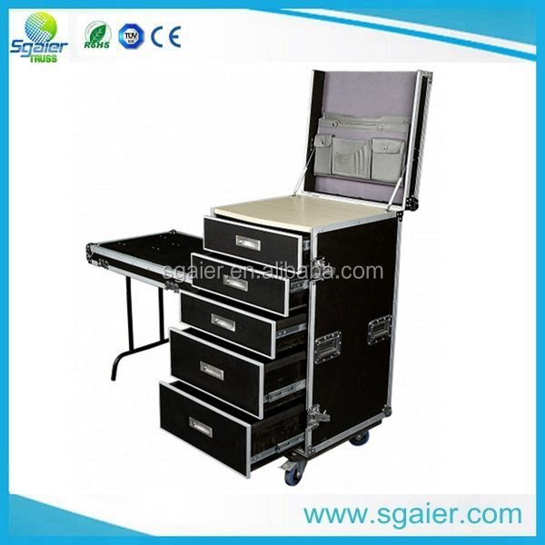 2016 hottest sale Aluminum DJ Flight Case with Work Table