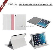 2017 Shenzhen new arrival Crazy Horse pu Protective Stand and Type Smart Case for iPad Pro with Sleep / Wake Function