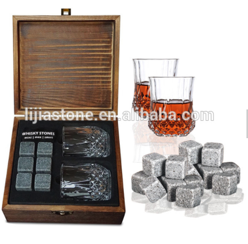 Whisky And Wine Ice Soapstones Passed Certification Chilling Stone
