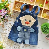 Baby clothing manufacturers usa pigs overalls for kids children denim jumpsuit 2015 baby clothes