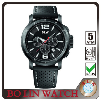 Fashion Watch Sport Custom logo Black Wristwatch Japan Movement Men Watches