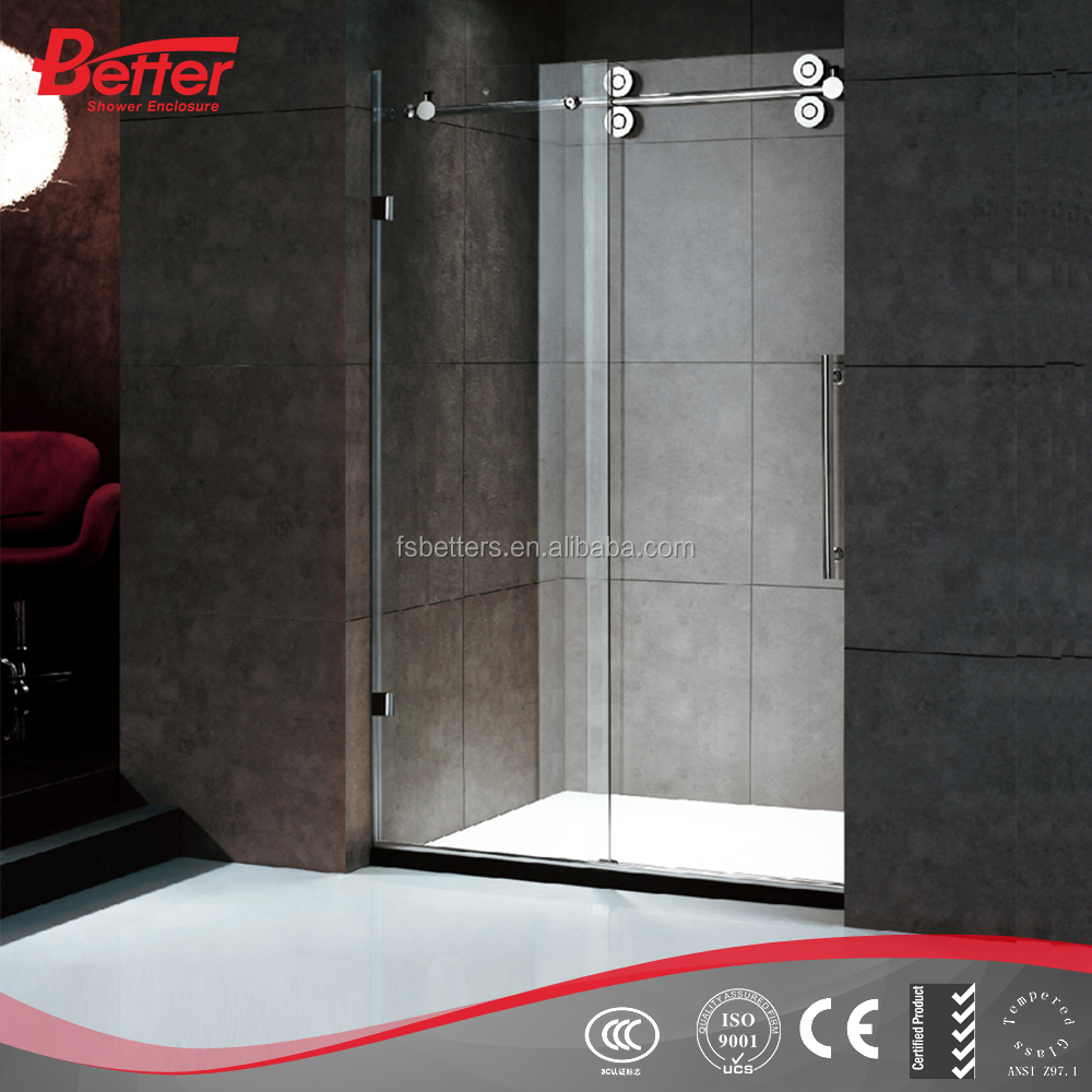 304 stainless steel bathroom sliding tempered glass shower door