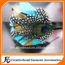 blue color peacock feather fascinator/Feather Headpiece/feather mount,feather headband,feather pad