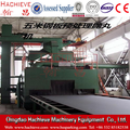 Steel sheet sand blasting cleaning machine and paint remover machine