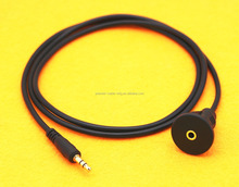 "Car Truck Dashboard Flush Mount 3.5mm 1/8"" AUX Audio Jack Extension Cable Kit"