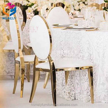 elegance modern round back feast rose gold silver hotel hall banquet wedding modern stainless steel dining chair