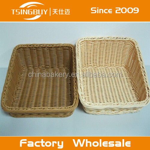 New style handcraft customized PP Rattan storge baskets/ PP plastic baskets/plastic bread baskets uk with LFGB certification