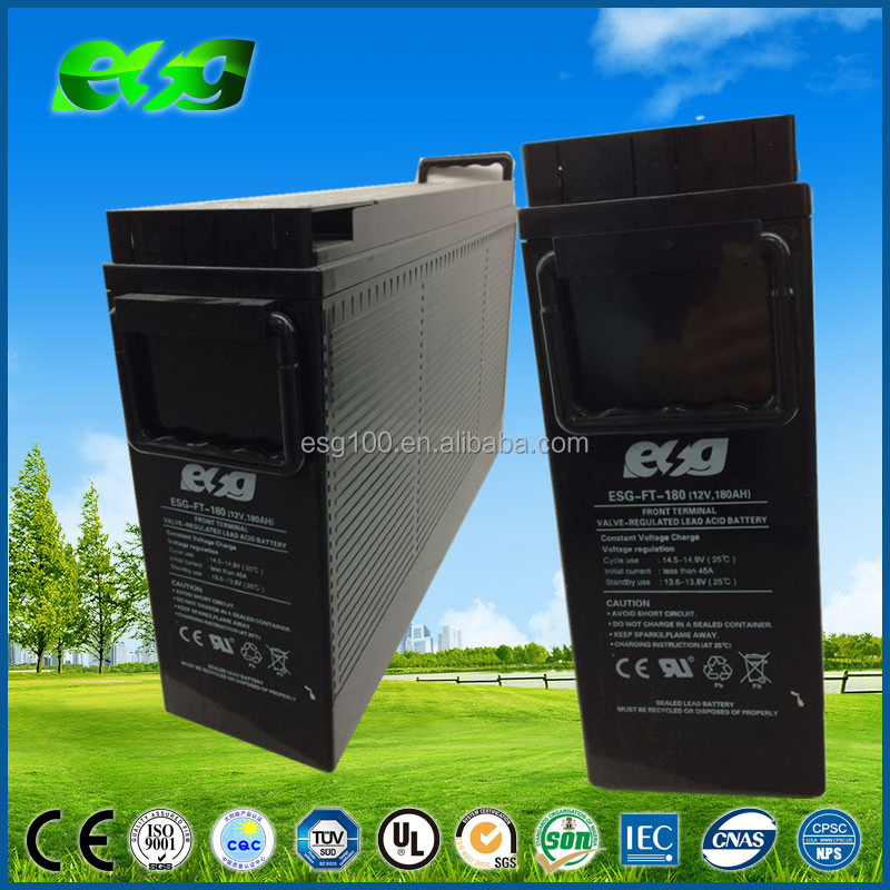 sla vrla Front terminal 12V 180Ah battery front access sealed lead acid battery ,rechargeable solar battery