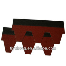 Red mosaic asphalt roofing shingles roofing tile