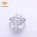 Best quality om design cz pave diamond gold rings