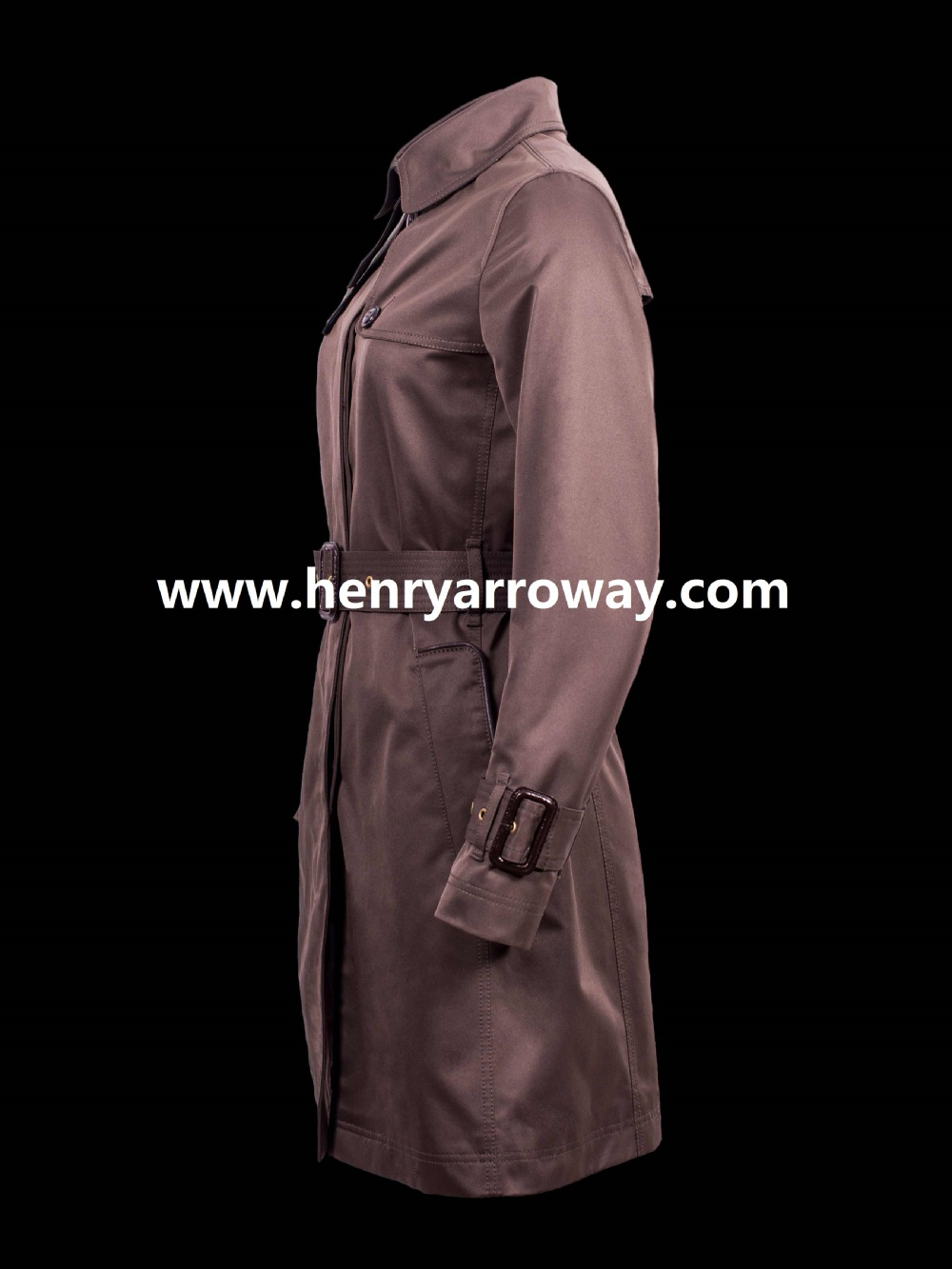 Fashion european style woman trench coat 100% cotton fabric from henry Arroway Spain