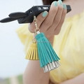 wholesale decorative silk tassel leather tassel fringe for phone & handbag