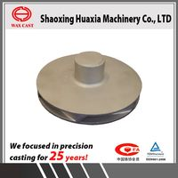 OEM high quality medium temperature wax 316 stainless steel pump impeller casting