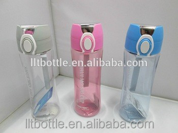 flat water bottle shaker foam pump plastic bottle 250ml with your logo