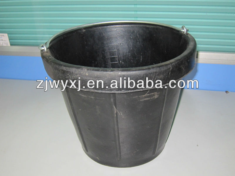Tyre rubber bucket,industry buckets,cement pail,Super rubber barrel 12QT