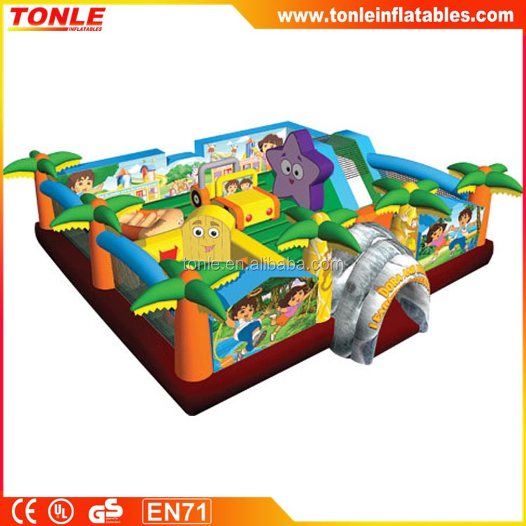inflatable Dora and Diego Learning Adventure fun city, inflatable play center, inflatable playground