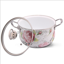 Enamel Stock Pot With Stainless Steel Handle/With Cover