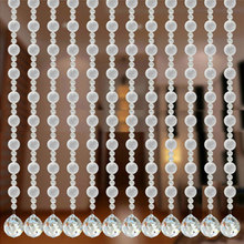 Clear hanging crystal beaded door curtain for hotel decors