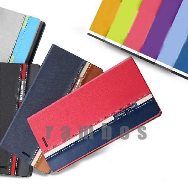 4 Colors Leather Card Holder Wallet Flip Case Cover Pouch Celular for Lenovo A6000