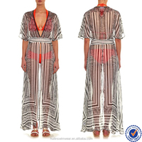 wholesale products sexy deep V-neck beach kaftans long short butterfly wings