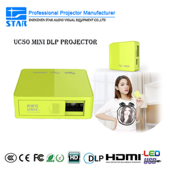 In Stock!!! Cheap pico projector 1080p dlp projector UC50 video projector smartphone led projector