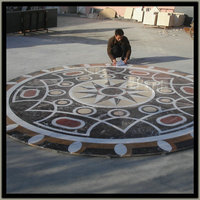 Big round Marble water-jet medallion