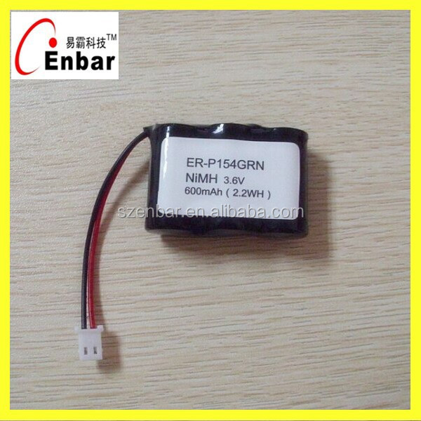 Hot sale 3.6v 600mAh nimh battery for cordless phone replacement ER-P154 Battery