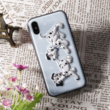 3D Cute Dog Soft TPU Phone Protective Case for iphone X/ 8 / 8 Plus