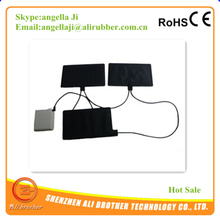 clothes heating element with carbon fiber /pet film and li-ion battery pad