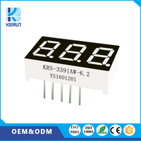 Customized common anode white color 0.39 inch 10 pins 3 digits small 7 segment digital display wall clock