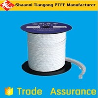 Pure white braided PTFE packing/ graphited teflon packing with oil