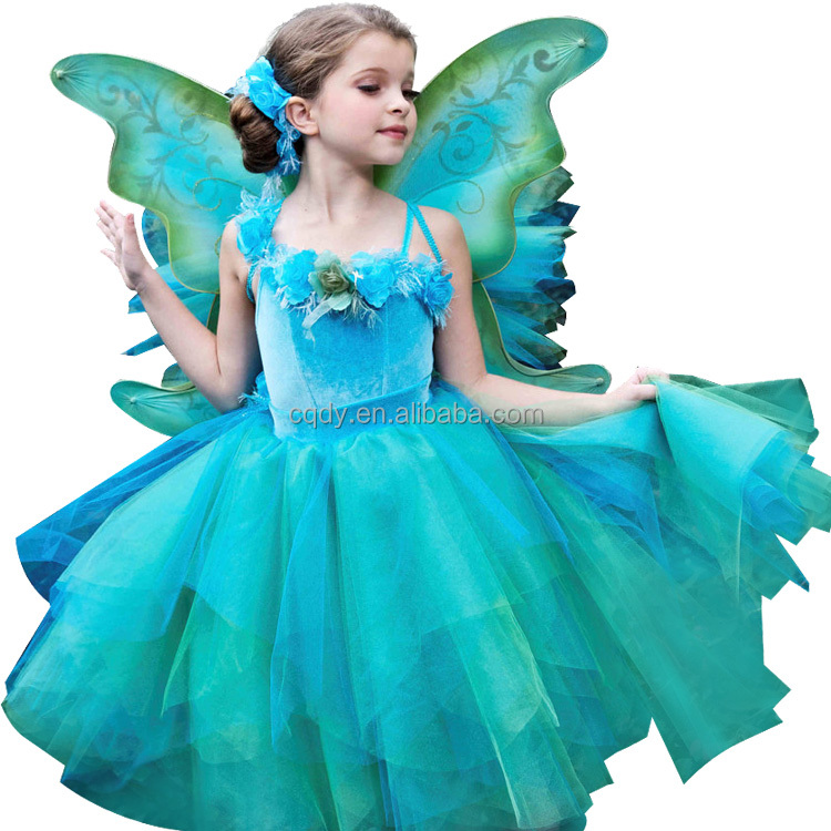 2014 Latest and most attractive Fairy Flower Girl Dress Butterfly Wings/Party dress/ Girl's fancy tutu dress