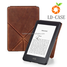 Genuine Leather Perfect Fit Origami Standing Cover with Auto Wake and Sleep for Amazon Kindle oasis